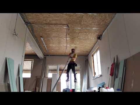 видео: Монтаж гипсокартона в доме из сип панелей
