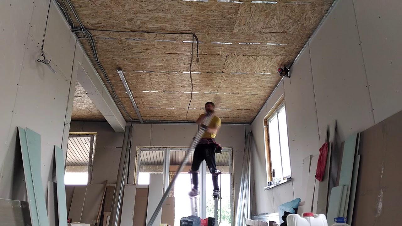Монтаж гипсокартона по сип панелям получения ТУ до сдачи объекта в Гатчинская улица
