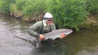 Atlantic Salmon Caught At Woodside, Hampshire Avon On A Orange Flying C