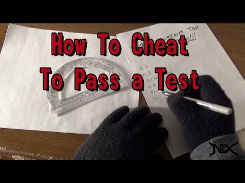 how to not get caught cheating on a test