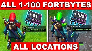 ALL FORTBYTES LOCATION *1-100* in 1 VIDEO! - Collect all Fortbytes (Fortnite Battle Royale)