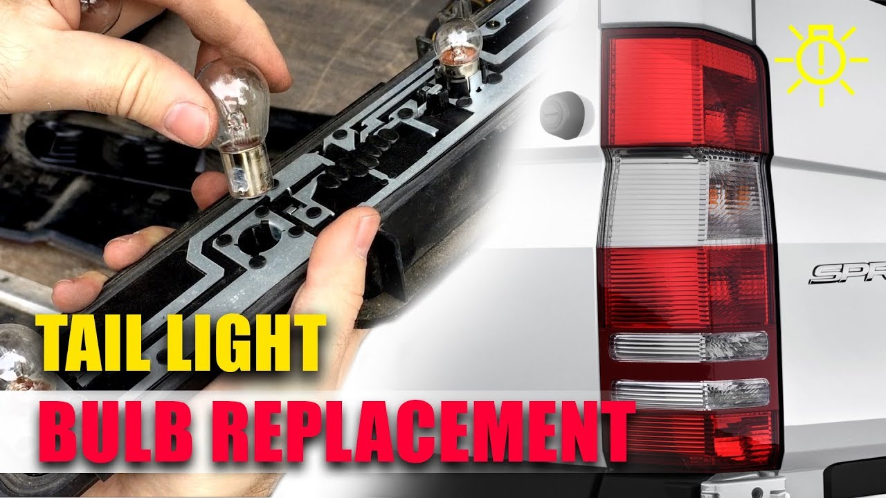 sprinter tail light bulb replacement (how to) License Plate Light Installation