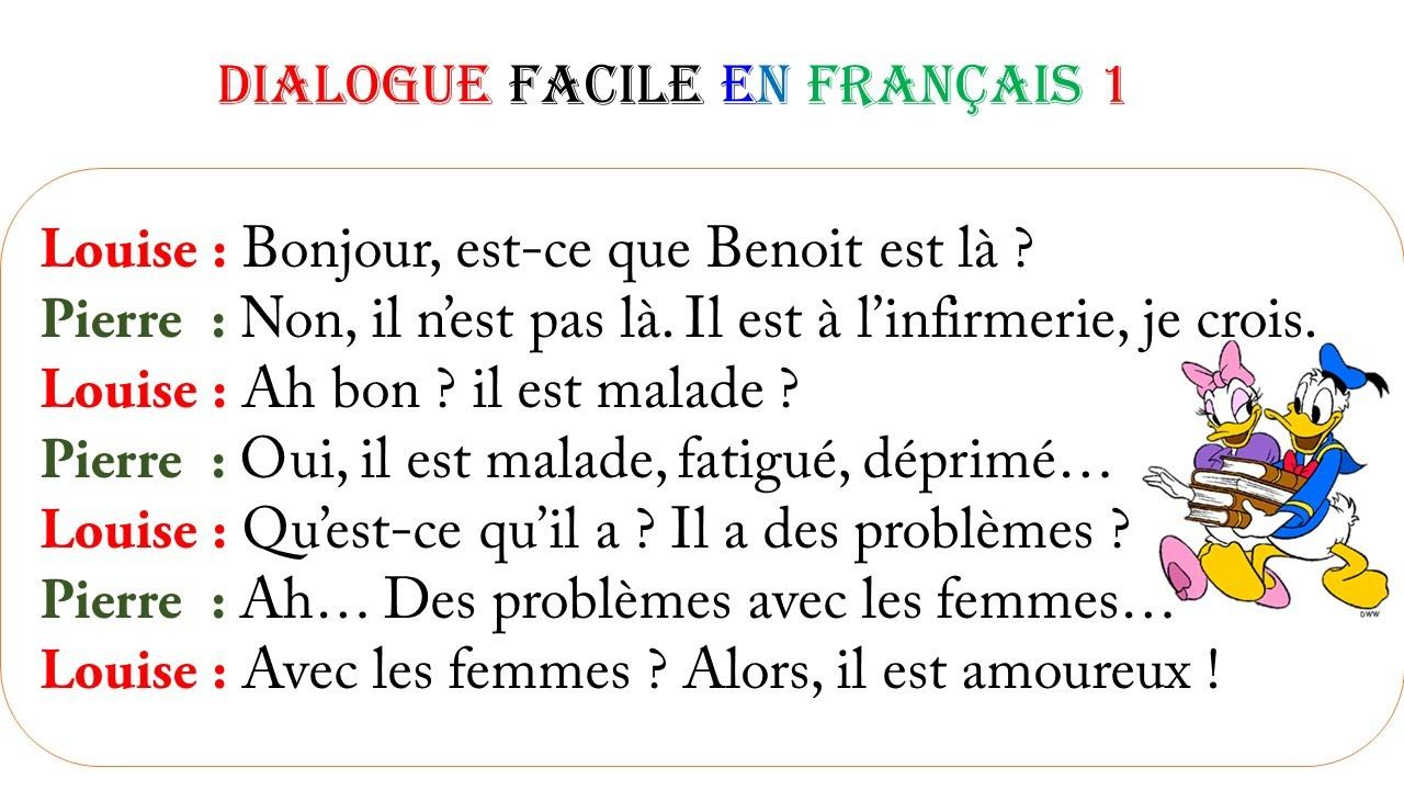 Dialogue facile en français 1 - YouTube