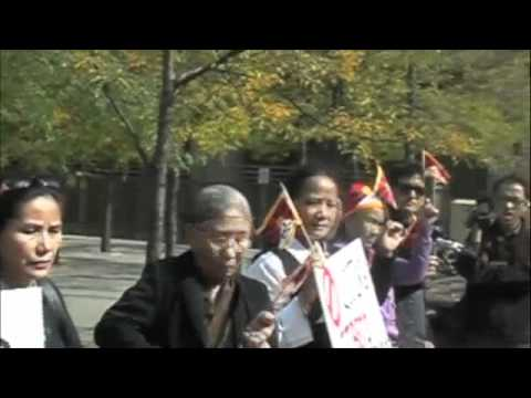 SFT Canada Protesting Against Mining In Tibet