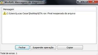 Como resolver o Erro de arquivos danificados no WinRAR