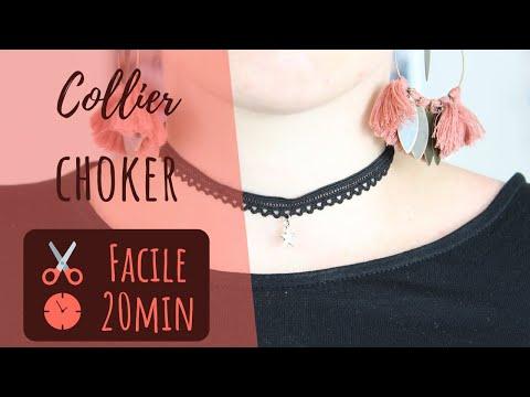 DIY Collier ras de cou / Choker