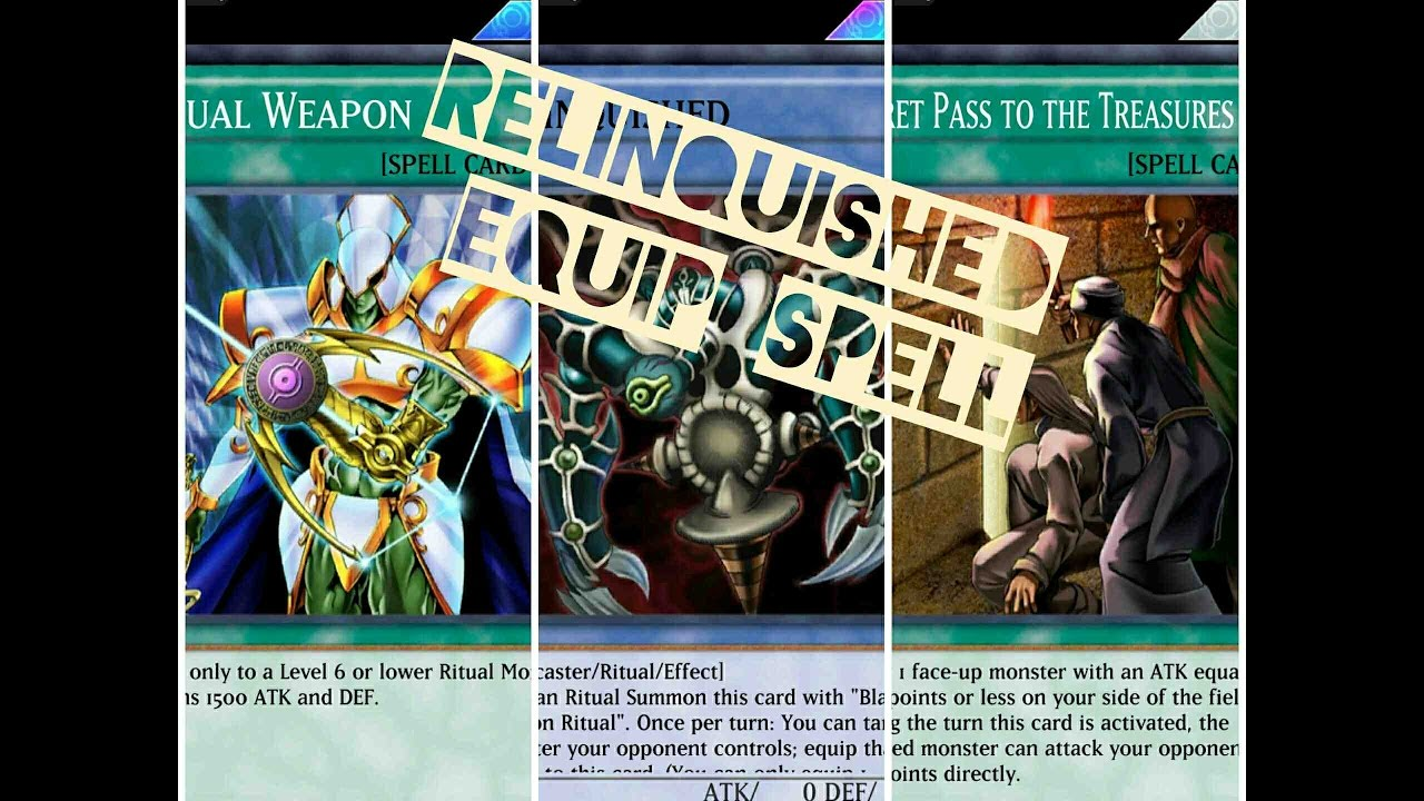 Yugioh Duel Link  Relinquished Deck Spell