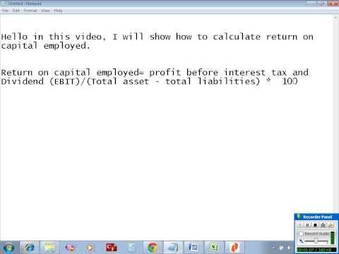 Calculate return on capital employed