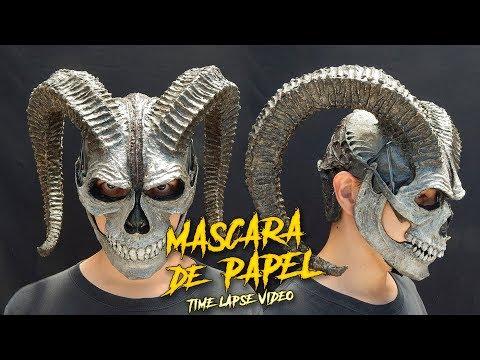 Calavera Cornuda | Máscara Hecha Con Papel | ¿Cómo Se Hace? | Time Lapse Video