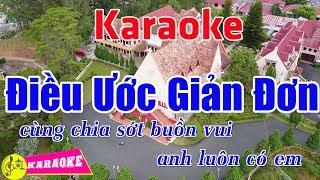 Điều Ước Giản Đơn (Remix) - Karaoke HD || Beat Chuẩn ➤ Bến Thành Audio Video
