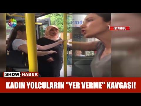 Kadın yolcuların yer verme kavgası!