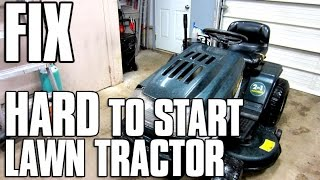 HOW-TO FIX A HARD TO START Lawn Tractor with OHV Briggs Engine - MUST SEE!