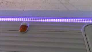 Led Strip Lights Installed Under Awning / Camper / Rv