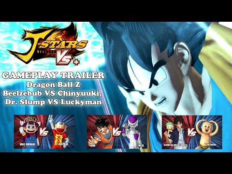 J-Stars Victory Vs+ New Gameplay Trailer - Dragon Ball Z, Beelzebub, Chinyuuki, Dr. Slump, Luckyman