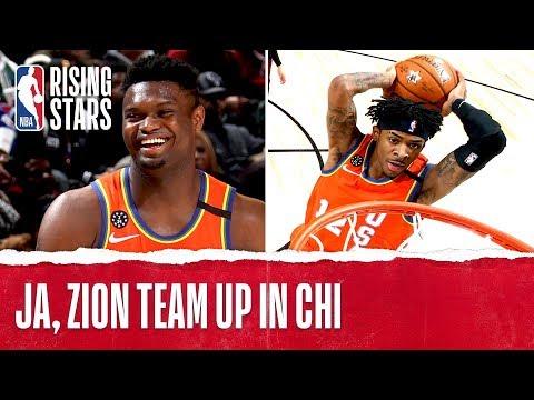 Ja Morant, Zion Williamson Highlights from 2020 Rising Stars!
