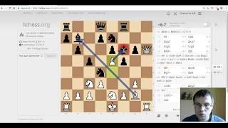 Шахматы. МАТОВАЯ АТАКА в закрытом варианте сицилианской защиты