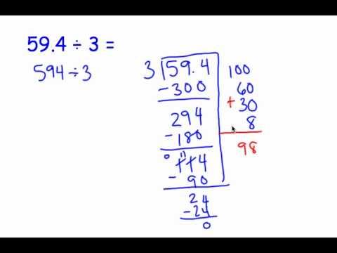 Division With Decimals Partial Quotients4 Youtube