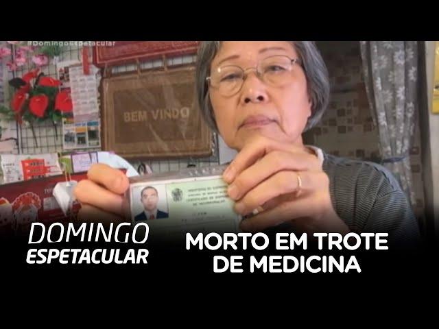 Mãe do estudante morto em trote de medicina fala ao Domingo Espetacular