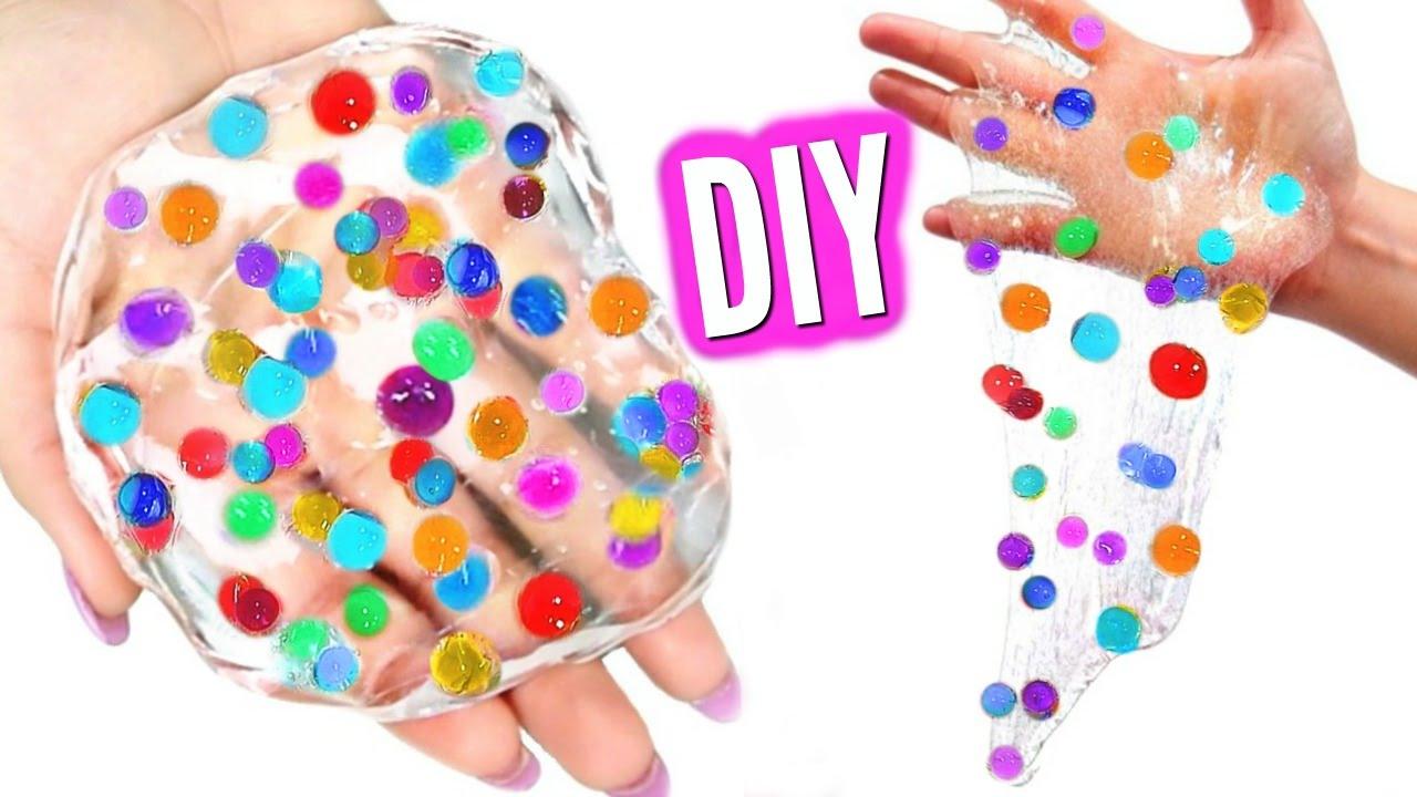 Diy Orbeez Slime Make Orbeez Glass Putty Youtube