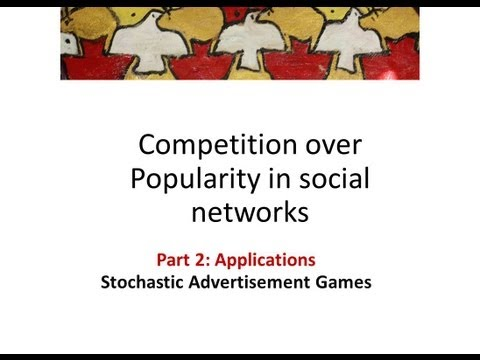 Competition over popularity in Social Networks 7: stochastic advertisement game