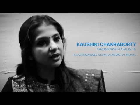 Kaushiki Chakraborty talking about music,Noida ( New Delhi )
