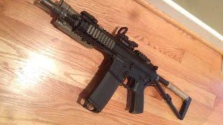 This is a custom made airsoft KAC PDW. The base gun is a DBoys Airs...