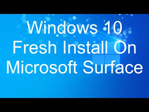 How to boot Surface from USB - Windows 10 Fresh Install