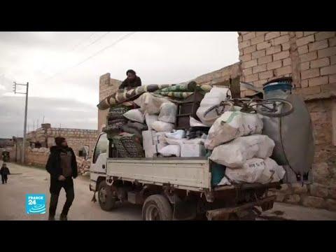نزوح آلاف العائلات جراء المعارك المستعرة في محافظة إدلب السورية  - نشر قبل 3 ساعة