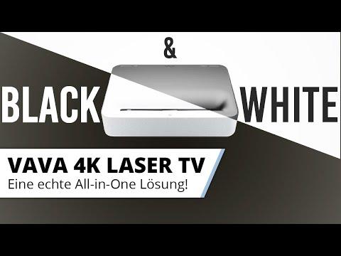 VAVA 4K Laser TV - in Schwarz oder Weiss - Macht in beiden Farben ein Top Bild!