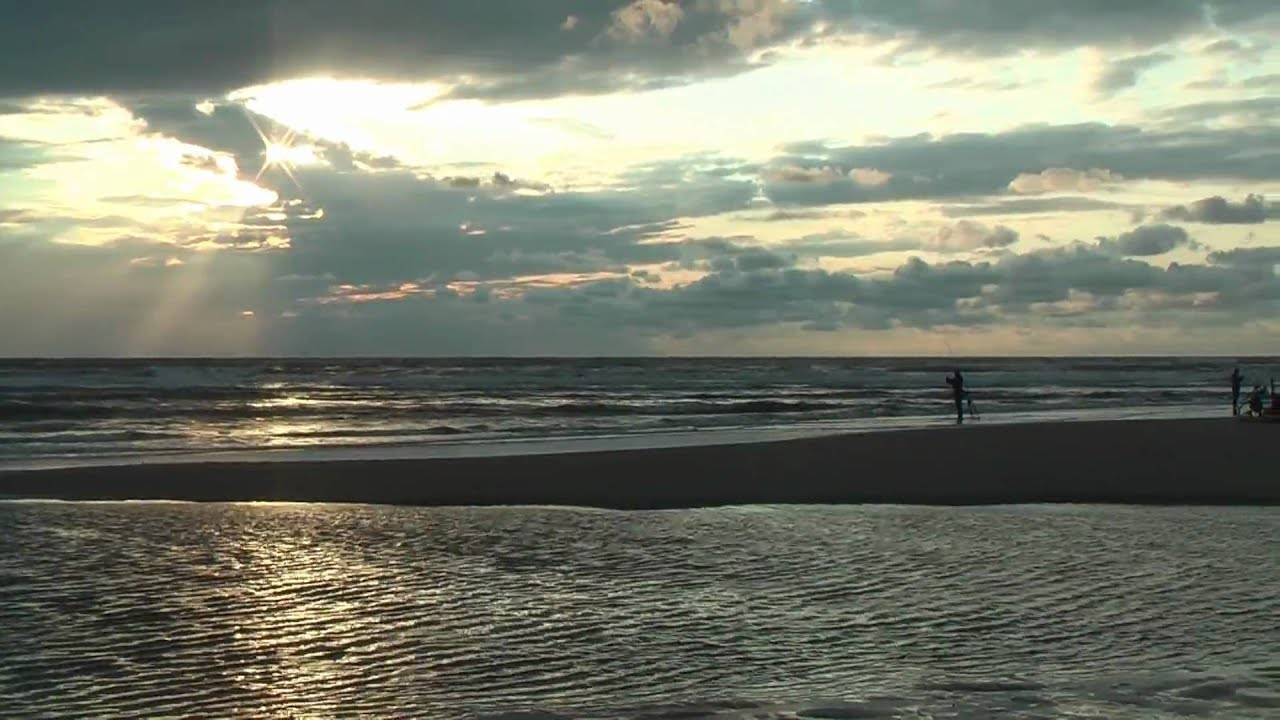 Sunset at Katwijk in HD 1080p