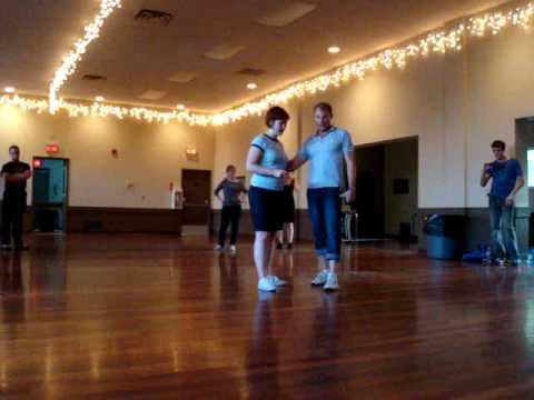 Swing Dance Calgary Meg & Eric Fast Lindy Walk Through