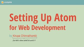 Setting up Atom for Web Development