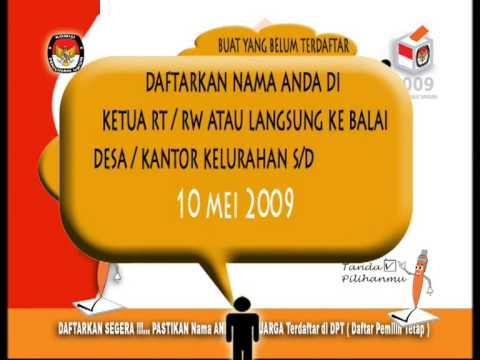 Iklan ILM DPT Pemilu 2009 Part 01