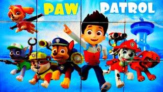 Райдер и его щенки - собираем кубики пазлы для детей с героями мультика Щенячий патруль | PAW Patrol