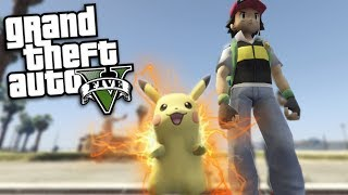 GTA 5 Mods - POKEMON'S ASH KETCHUM & PIKACHU MOD (GTA 5 PC Mods Gameplay)