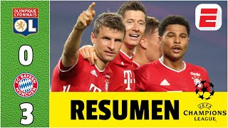 Lyon 0-3 Bayern Munich | Goles de Gnabry y Lewandoski los meten en la final de la Champions vs PSG