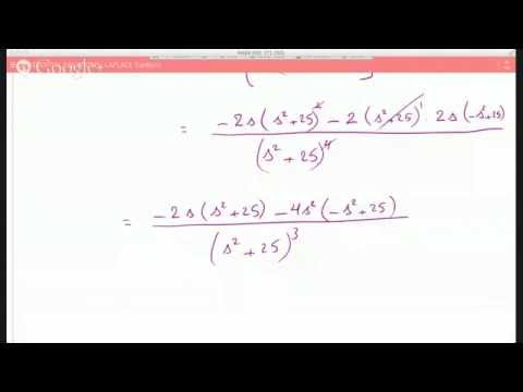 Using the derivative property of Laplace to infer the Laplace Transform of t^2*cos(5t)