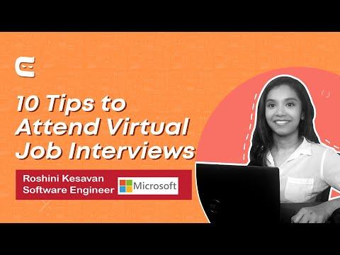 How to Prepare for Virtual Job Interviews  By Roshini Kesavan  SDE @ Microsoft