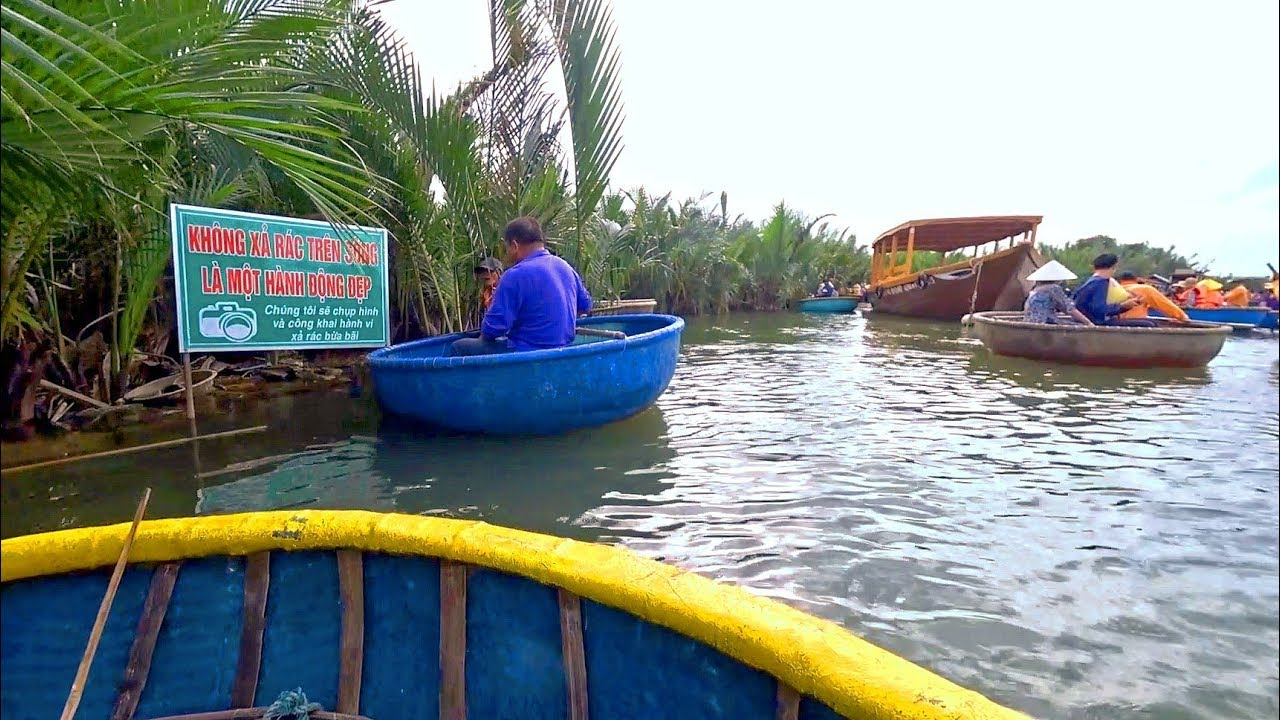 越南會安 - 迦南島水椰林竹籃船巡遊6/6 Coconut Forest Tour by Basket Boat, Hoi An (Vietnam) - YouTube