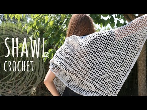 Tutorial super easy lace stitch shawl crochet youtube dt1010fo