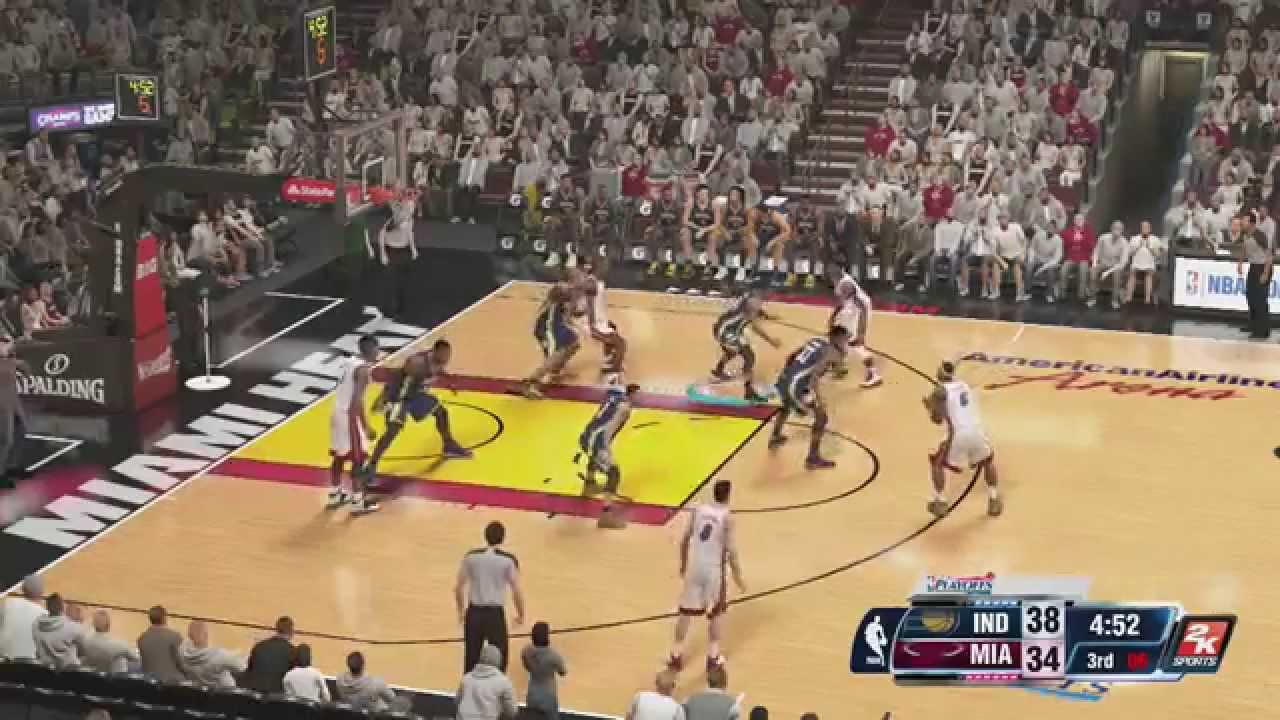 Nba 2k14 Xbox One Miami Heat Vs Pacers Game 1 Youtube