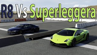 Forza Motorsport 6 - DRAG RACE: Audi R8 V10 Plus Vs Lamborghini Gallardo LP570 4 Superleggera