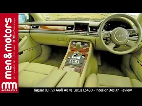 Jaguar XJR vs Audi A8 vs Lexus LS430 - Interior Design Review