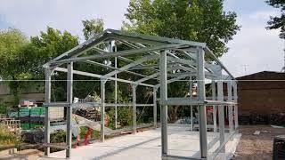 DIY light steel garage kit, shed construction