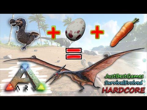 Ark Survival Evolved - КАК ПРИРУЧИТЬ ПТЕРАНОДОНА, PTERANODON (полный цикл) Hardcore #17