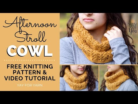 Afternoon Stroll Cowl Free Knitting Pattern By Yay For Yarn