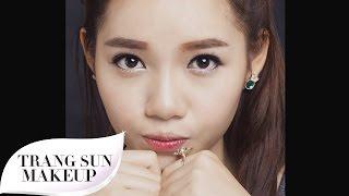 Hướng dẫn trang điểm bọng mắt kiểu Hàn xinh xắn [TRANG SUN MAKEUP]