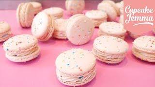 How to Make BIRTHDAY CAKE MACARONS! | Cupcakes