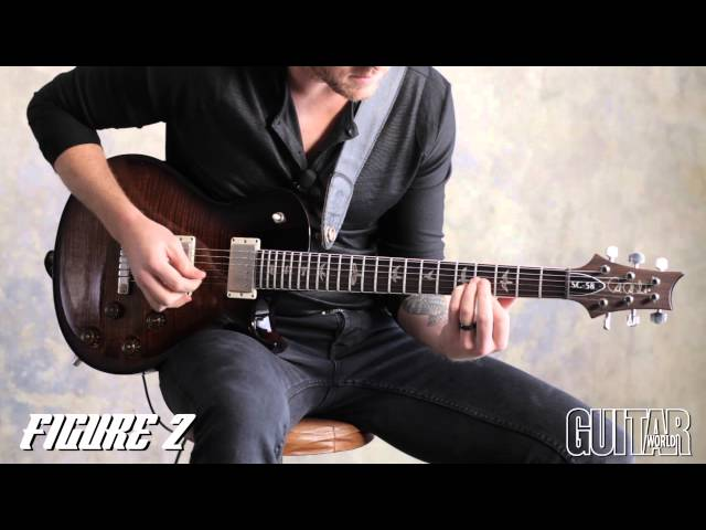 Guitar lick pedal steel for