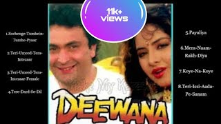 Deewana(1992) movie's all Mp3 song collection/Best of Kumar sanu/jukebox #kumarsanujimelody